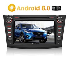 Pumpkin 2 Din Android 8.0 Car Multimedia DVD Player GPS Navigation Qcta-Core Car Stereo Wifi FM Rds Radio For Mazda 3 2009-2012