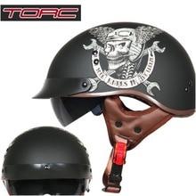 TORC harley estate dell'annata mezza casco con visiera retro capacete moto casco jet casco moto casco DOT