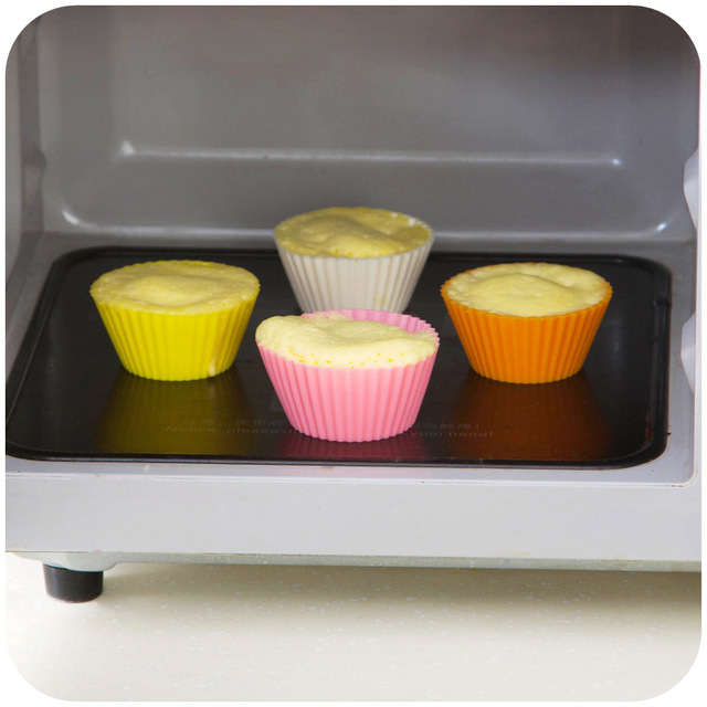 Urijk Random Color Muffin Moulds Silicone Mold Bakeware Cupcake Liner Cupcake Stand DIY Baking Cake Decorating Tools Multisize
