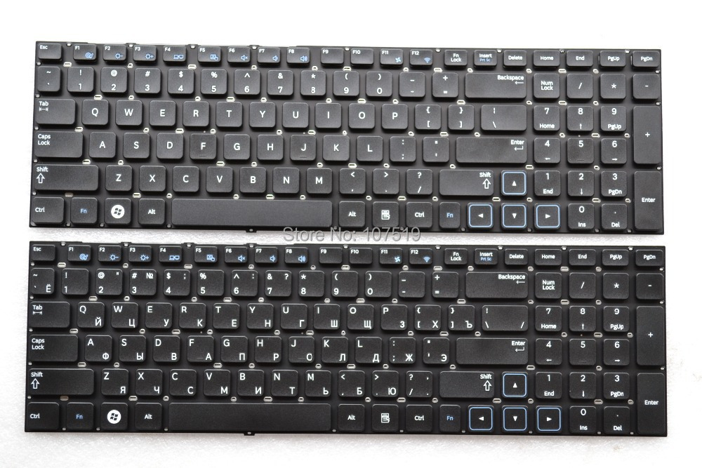 US/RU layout  New Laptop Keyboard  for Samsung NP 300E7A 305E7A Black