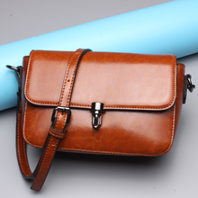 2017 New Korean Female Bag Leather Small Square Package Leather Shoulder Messenger Bag L6080