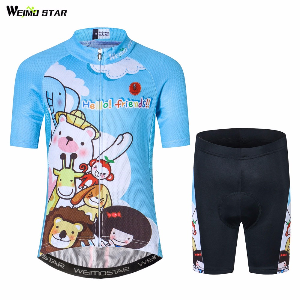 Tops Jersey-Clothing Short-Sleeve Bike Cycling Maillot Ropa-Ciclismo Children Mtb Cartoon