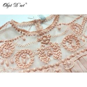 Image 5 - Women Brand Design Vestidos Elegant Party Casual Vintage Apricot Short Sleeve Lace Pleated Ruffled Chiffon Dress for Wedding