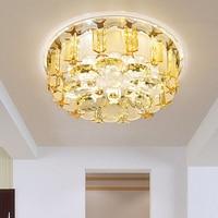 New arrival circle led crystal ceiling light entrance aisle lamp fashion glass restaurnat lamp