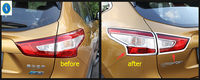 Yimaautotrims For Nissan Qashqai J11 2014 2015 2016 ABS Rear Tail Lamp Tailgate Light Cover Trim Molding Garnish