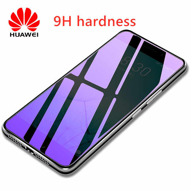 Full Cover Purple Light Tempered Glass For Huawei Honor 8 9 10 8X MAX Play Screen Protector For Honor Note 10 8 V10 Film