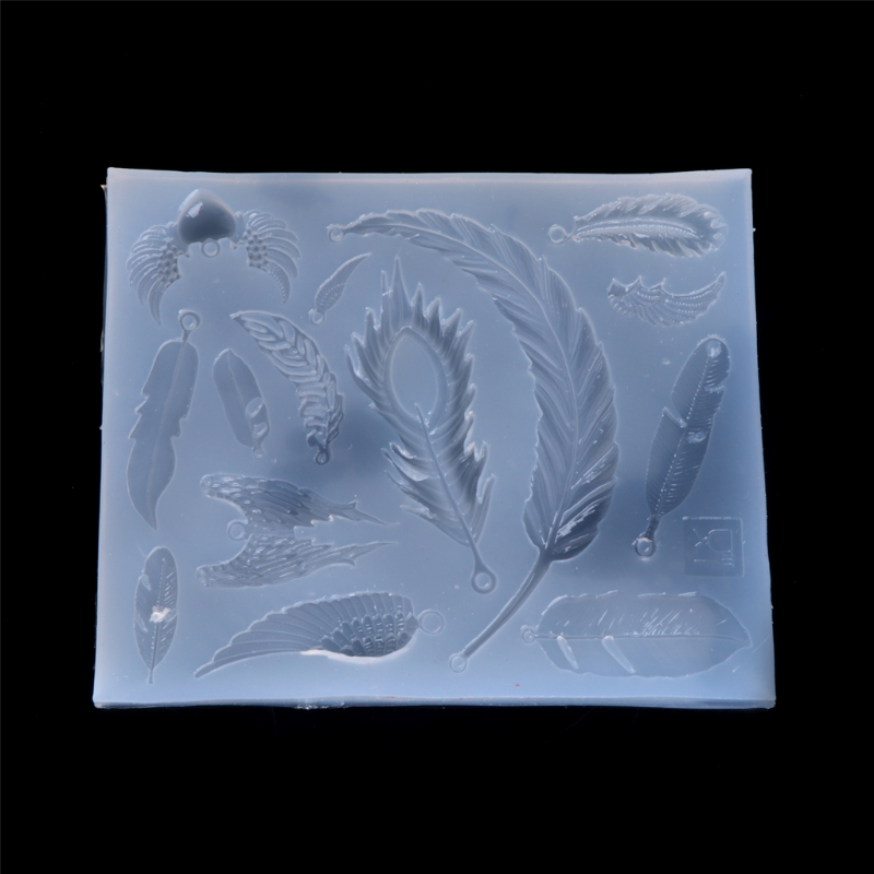 Mold for jewelry Feather charms pendant Resin Silicone Mould handmade tool epoxy resin molds -m15 ...