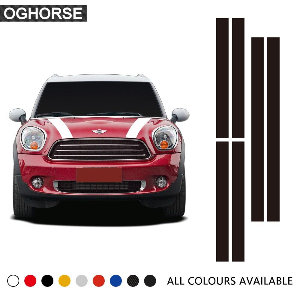 Rally Line Car Hood Engine Bonnet Roof Rear Decal Sticker for MINI Cooper S One JCW F54 F55 F56 F60 R55 R56 R60 R61 R50 R52 R53