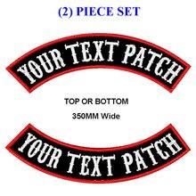 Anpassen stickerei mc rocker patch 350mm breite top und bottom motorrad biker patches für weste cut und kleidung