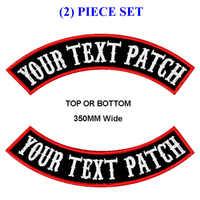 Personnalisez les patchs de motard de moto en haut et en bas de 350mm de broderie mc pour la coupe du gilet et les vêtements