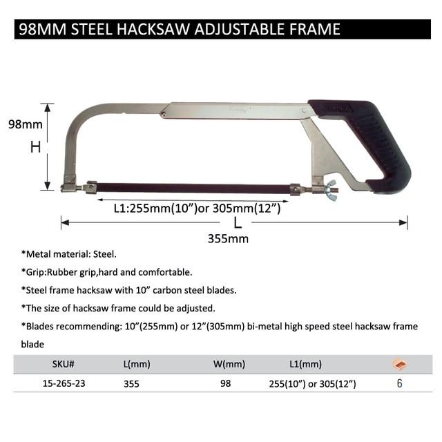 Stanley 1pc adjustable hacksaw frame w/ 10 6