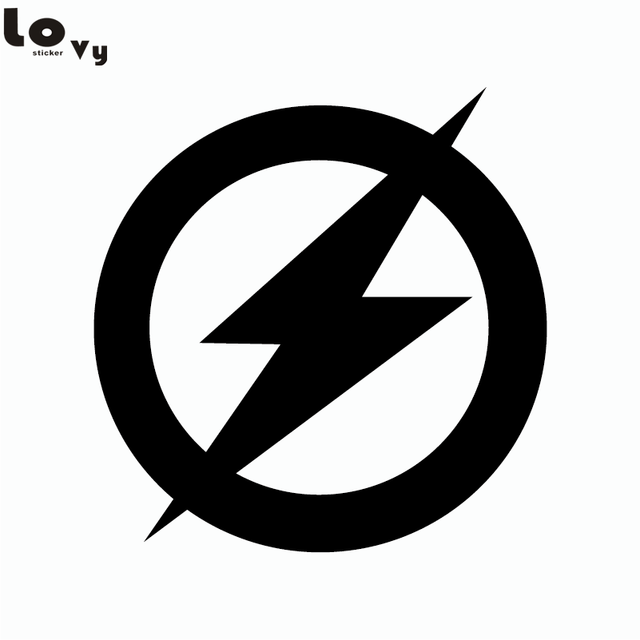 Superhero the flash logo vinyl wall sticker decal
