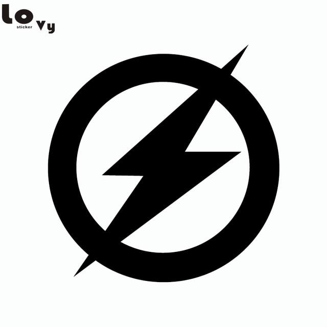 aliexpresscom buy superhero the flash logo vinyl wall