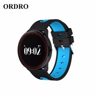 ORDRO Fashion Smart Fitness Bracelet Blood Pressure Heart Rate Sleep Monitor Bluetooth Wristband For Iphone Xiaomi