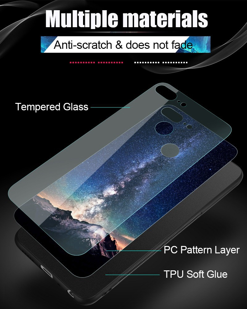 TOMKAS Space Case For Huawei P20 Lite Pro Mate 10 Lite Cases Cover P Smart Glass Coque Phone Case on for Huawei Honor 9 Lite 10 (8)