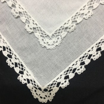 Set Of 12 Fashion Ladies Handkerchiefs White Soft Cotton Lace Wedding Bridal Hankies Vintage Hanky For Mother Of The Bride 12x12