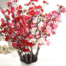 Artificial Flower Chinese Plum Blossom Cherry Home Decoration Accessories Wedding New Year Fake