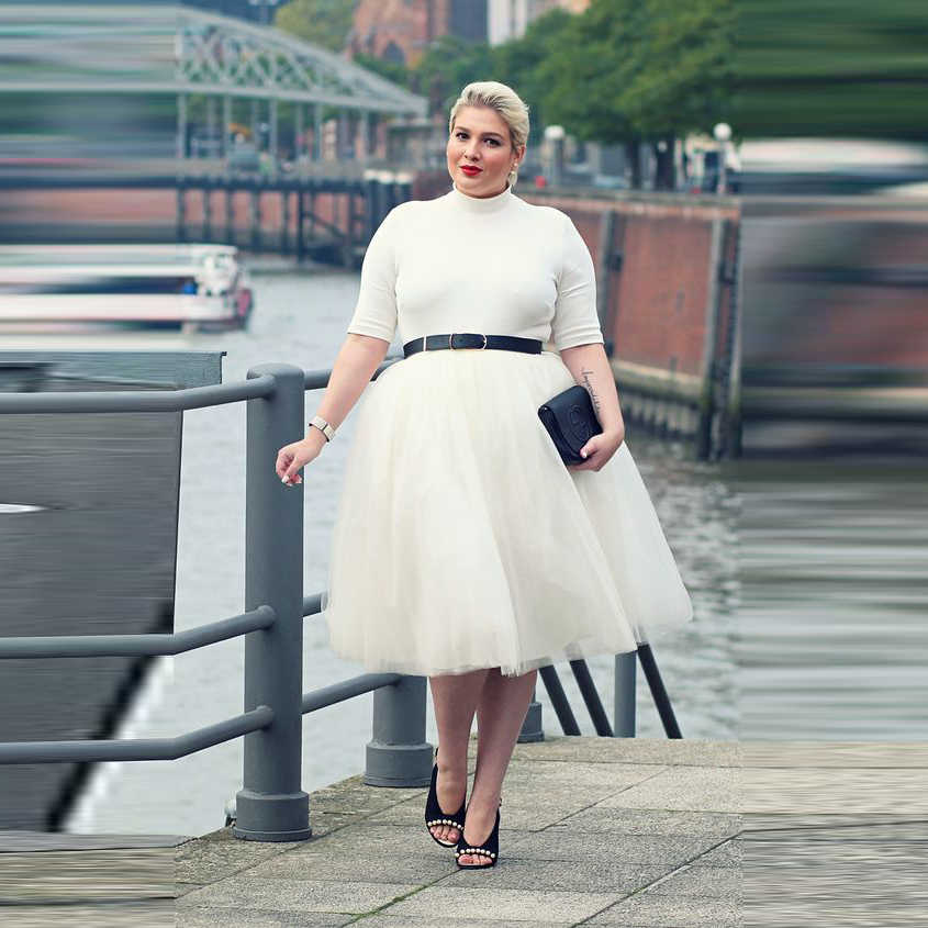 8478970584 Plus Size Fashion Women Skirts A Line Knee Length Tutu Skirt Custom Made  Simple White Tulle
