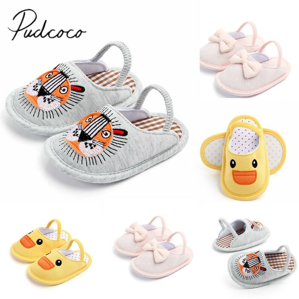 Baby Boy Girls Warm Crib Shoes Plush Slippers Toddler Trainers Prewalker 3-12M
