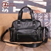 Man Business Crossbody genuine leather laptop bag zipper male top handle Shoulder bags vintage casual Messenger men's bags