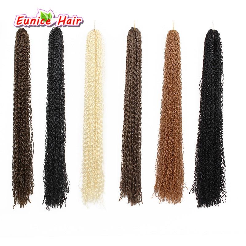 24 Zizi curl braid hair best synthetic hair extension micro zizi hair kanekalon freetress water wave deep curly hair bundles