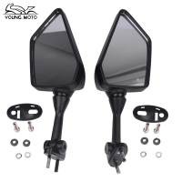 YOUNG MOTO Black Motorcycle Rearview Mirror Motos La Moto Motocicleta 6mm Racing Rear View Mirrors For