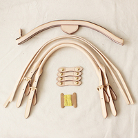 Beige DIY Replacement Bag Accessories For Luxury Bags 1 Set Bag Parts Genuine Leather Handles For Hobos Bag
