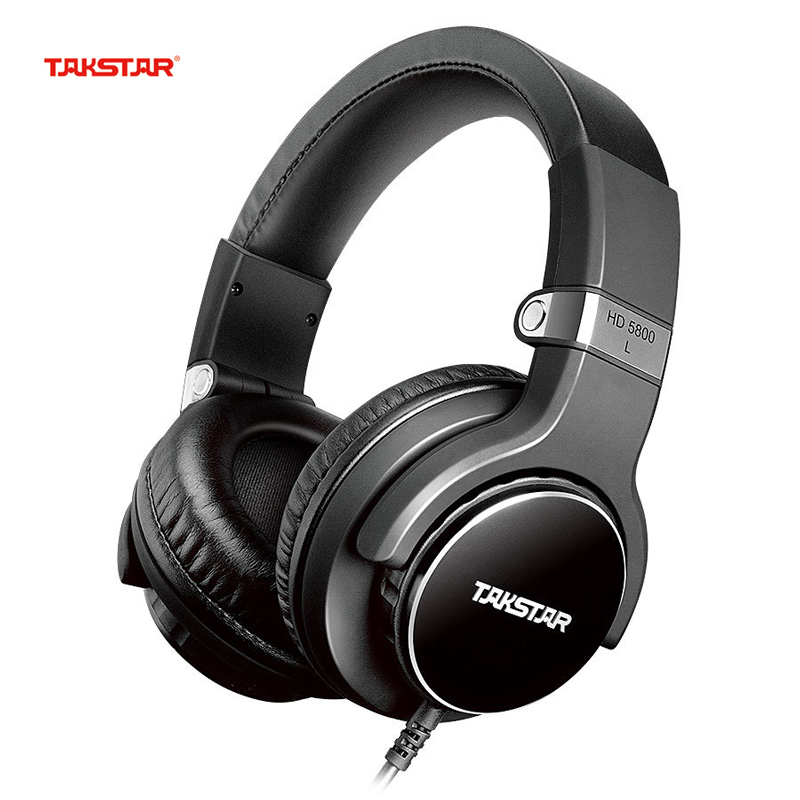 TAKSTAR HD5800 Headphone Headset Music Dj Earphones Stereo Bass Recording Professional Monitor Headphones with Mic for IPhone PC oneodio professional studio headphones dj stereo headphones studio monitor gaming headset 3 5mm 6 3mm cable for xiaomi phones pc