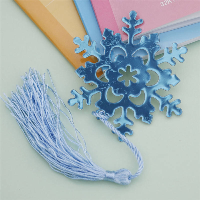 1PC Fashion Snowflake Creative Exquisite Alloy Bookmark Ribbon Box Wedding Favor Gift