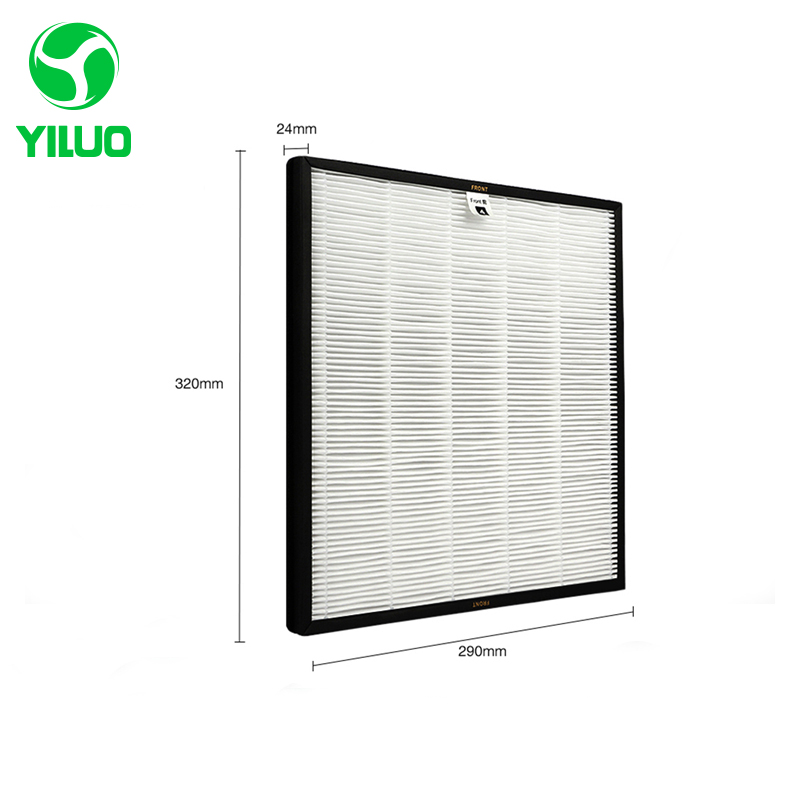 Hot Sale 320*290*24mm AC4124 Air Purifier HEPA Filter Screen to filter PM2.5 with High Efficiency for AC4002 AC4004 AC4012 ac4121 ac4123 ac4124 filters kit for philips ac4002 ac4004 ac4012 air purifier parts