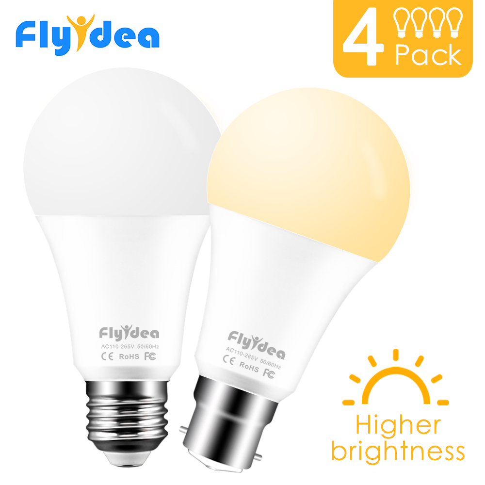 4pcs <font><b>LED</b></font> lamp E27 <font><b>LED</b></font> Bulb B22 <font><b>led</b></font> light 5W 7W 9W 12W 15W <font><b>18W</b></font> Lampada <font><b>led</b></font> 110V 220V <font><b>LED</b></font> Spotlight For Home Decoration Ampoule image