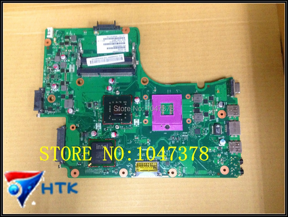 Wholesale for Toshiba  L650 laptop motherboard V000225020 6050A2355301-MB-A03 100% Work Perfect  wholesale v000225020 laptop motherboard for toshiba c650 c655 100