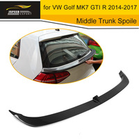 Car Styling Carbon Fiber Middle Trunk Spoiler Lip Wing For Volkswagen VW Golf MK7 GTI R 2014 2017