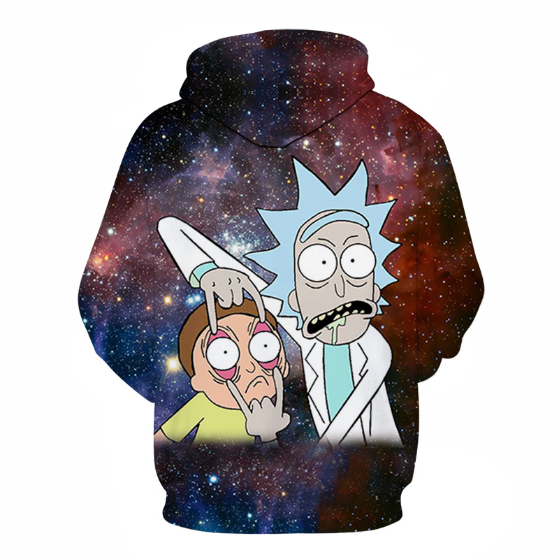 Galaxy Hoody Rick and Morty Printed Hoodies 3D Tracksuits Men Sweatshirt Cartoon Hoodie Fashion Pullover Drop Ship ZOOTOPBEAR  1