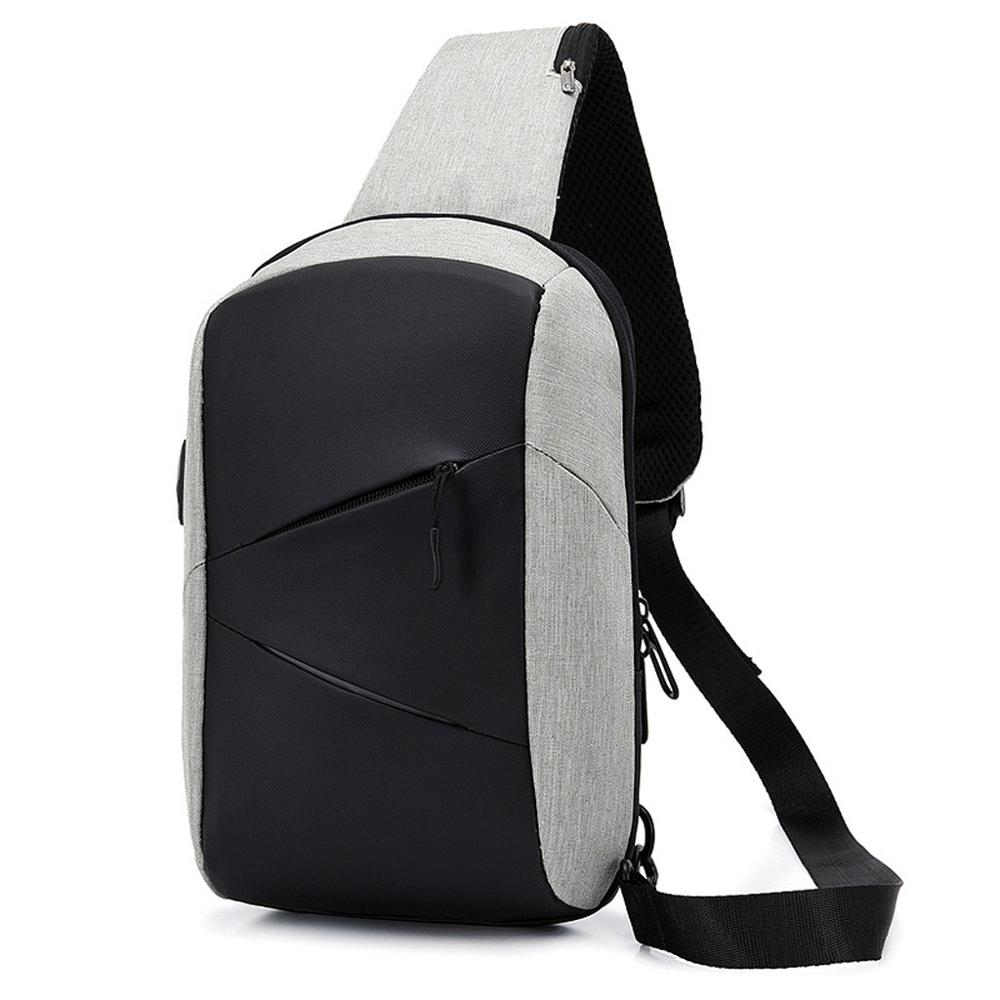Men's Chest Bag Fashion Oxford Cross Body Bag Casual Outdoor Sports Bag Oxford Headphone Hole Messenger Bag Male Chest Bag #20