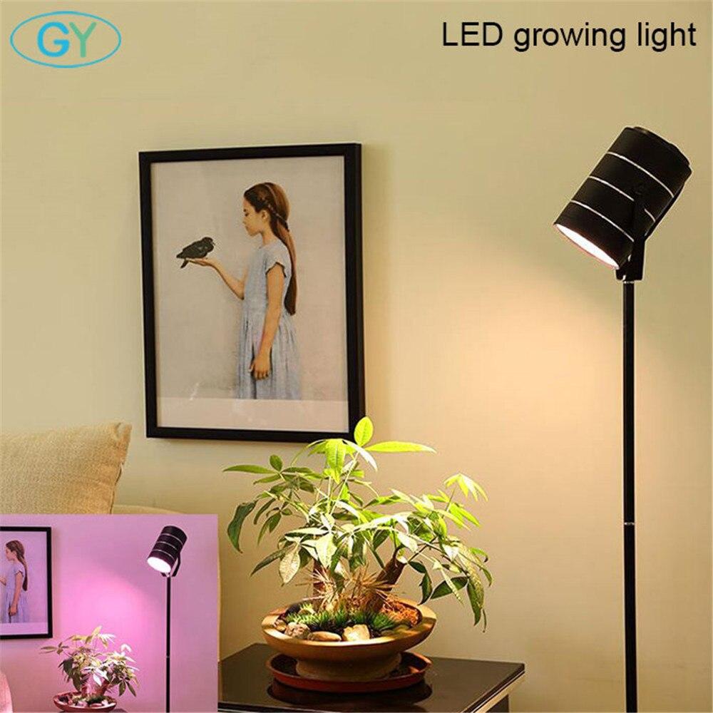 AC100-240V 7 W 12 W 18 W LED à spectre complet élèvent la lampadaire LED argentée noire légère pour la plante cultivant la LED debout d'intérieur élèvent la lampe