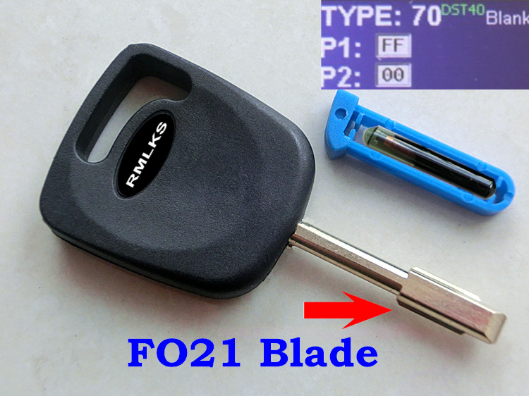 RMLKS New Transponder Key Fob With Chip ID4D60 Glass Fit For Mondeo Chip Key Uncut Fo21 Blade