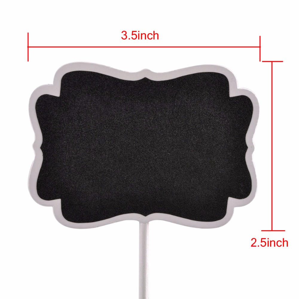 Wooden Blackboard Holder kit Chalkboard Message Boardsign with Chalk set for Wedding beffet Table number signs Party Decorations
