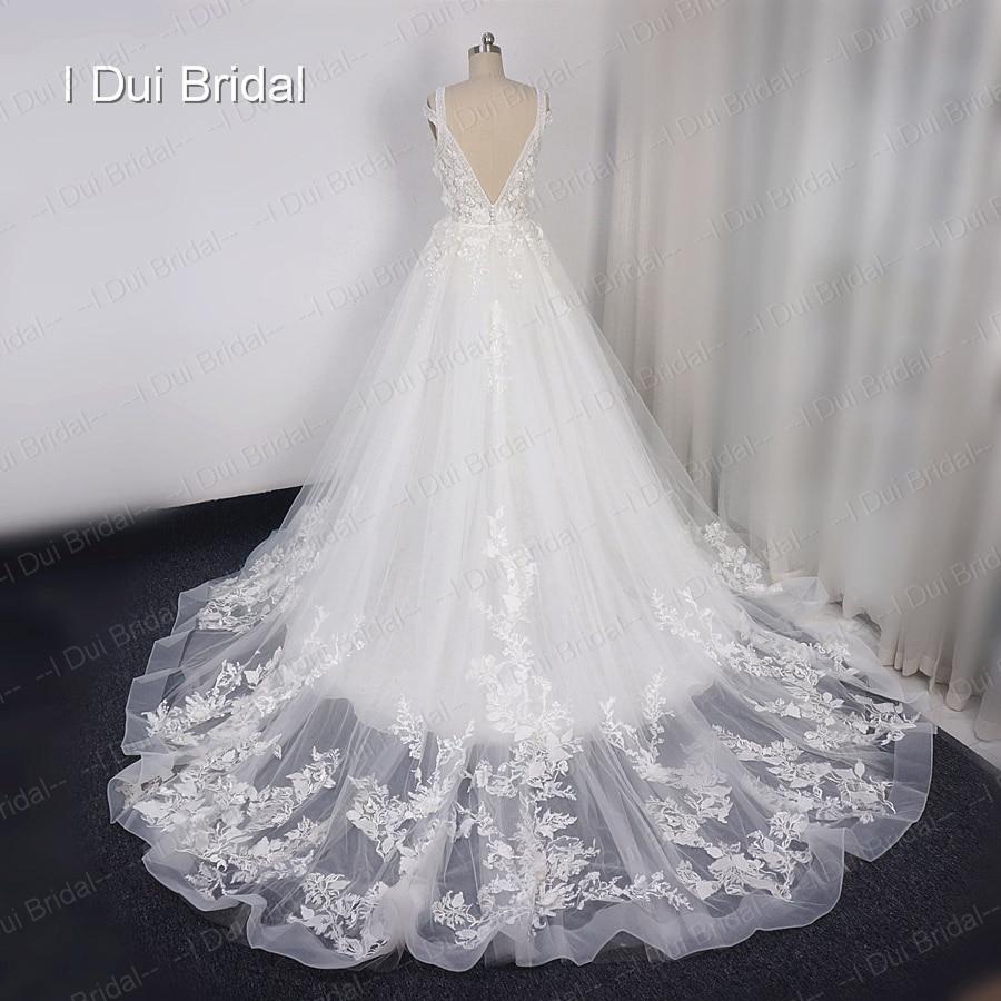 Detachable Outskirt Wedding Dresses 2018 New Style Deep V Neck Boho ...