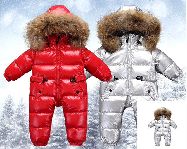 224b1fd46 New Russia Winter Infant Baby Boy Girl Romper Thicken Baby Snowsuit ...