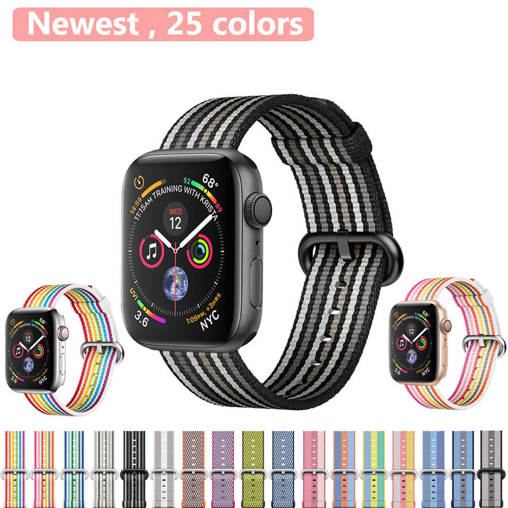 Sport Strap for Apple Watch Band apple watch strap apple watch 4 38mm 42mm Woven Nylon Classic buckle Bracelet Wrist watchband