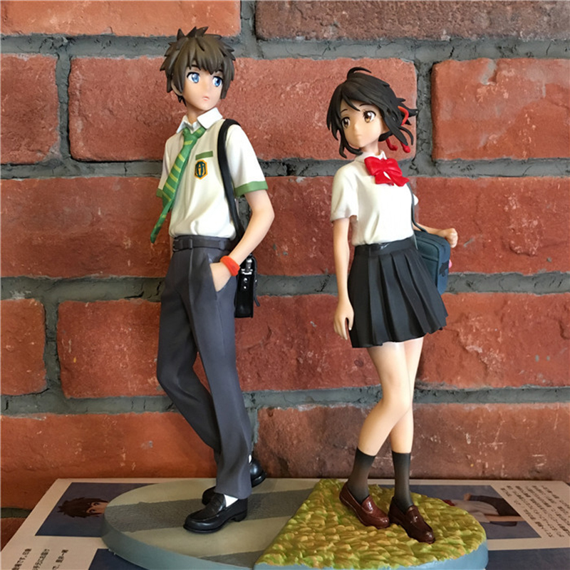 2PCS Your Name Action Figure Model Toy kimino na wa Miyamizu Mitsuha Action Figures Animes Japoneses for Kids Toys Gift
