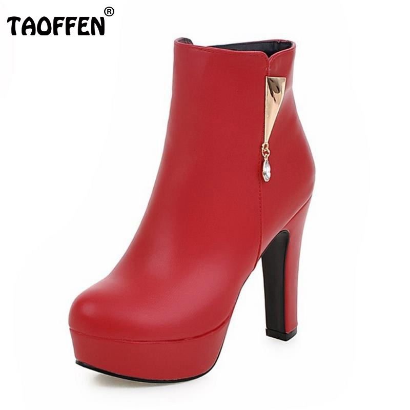 Women Round Toe Ankle Boots Sexy Ladies Spike High Heels Shoes Woman Fashion Platform Zipper Botas Mujer Size 31-45 brand new hot sales women nude ankle boots red black buckle ladies riding spike shoes high heels emb08 plus big size 32 45 11
