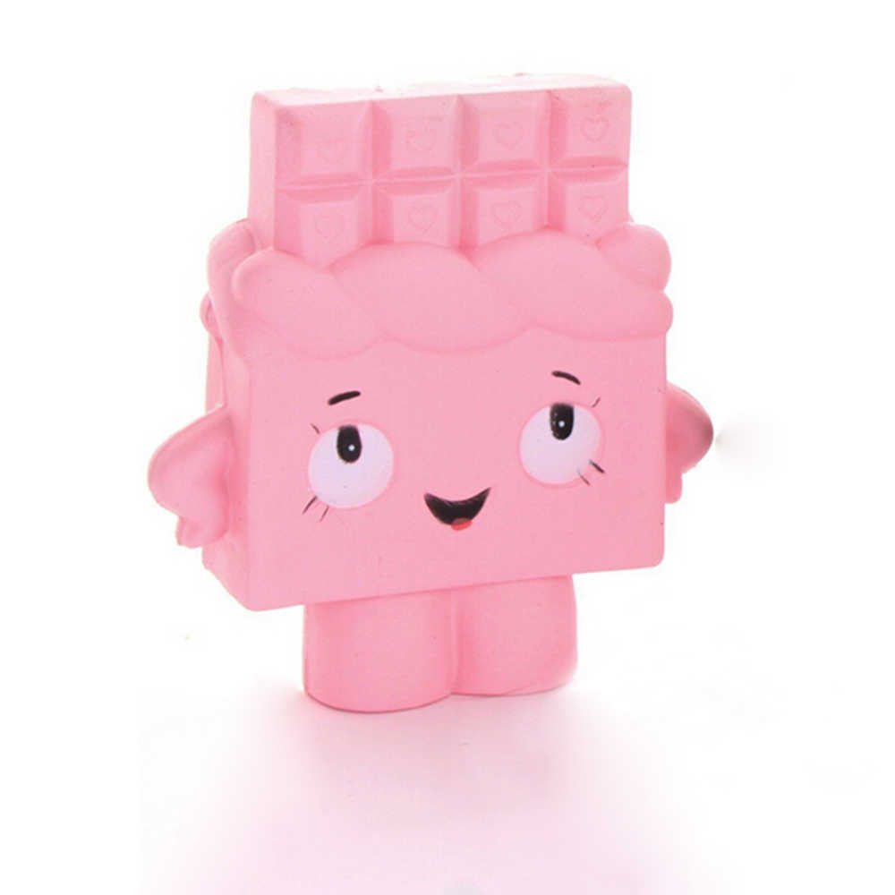 Jumbo Chocolate мягкий медленно поднимающийся ароматизированный подарок забавная игрушка мобильный телефон ремни (розовый)