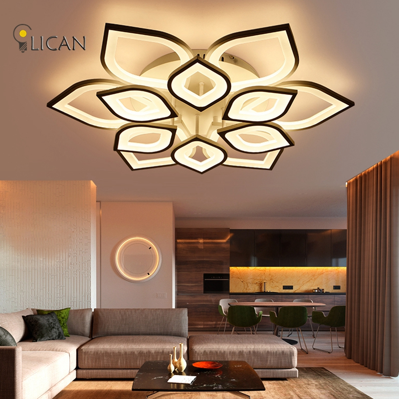 Lican Modern Led Ceiling Chandelier Lights For Living Room Bedroom Plafon Home Dec Ac85 265v White Lamp Fixtures Dans Res De Lumières Et