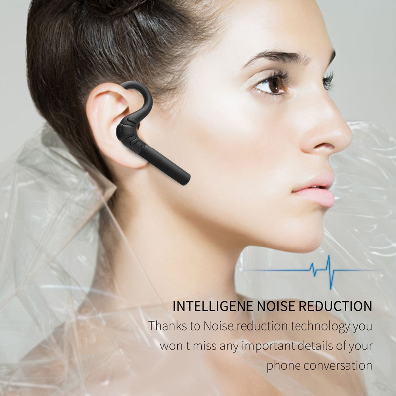 Sports Wireless Bluetooth Headset Noise Canceling Earphone Earbud with Mic Business Headphone for iPhone x Samsung Huawei Xiaomi dbigness sport running bluetooth earhook headphone mini wireless earphone stereo noise canceling auricular for xiaomi iphone