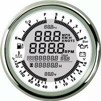 Белый приборной панели gps спидометры топлива масла давление метров вольтметр воды измеряющий температуру прибор 6 в 1 датчики подходит для А