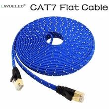 Cabo Ethernet Computador XBOX RJ45 Cat7 Networking LAN Cabos CAT 7 Gigabit Ponte Computador Núcleo do Fio de Cobre 10 Gbps Rede cabo