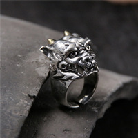 silver Devils in animal forms to the men's 925 sterling silver ring Thai silver, unique personality domineering ring