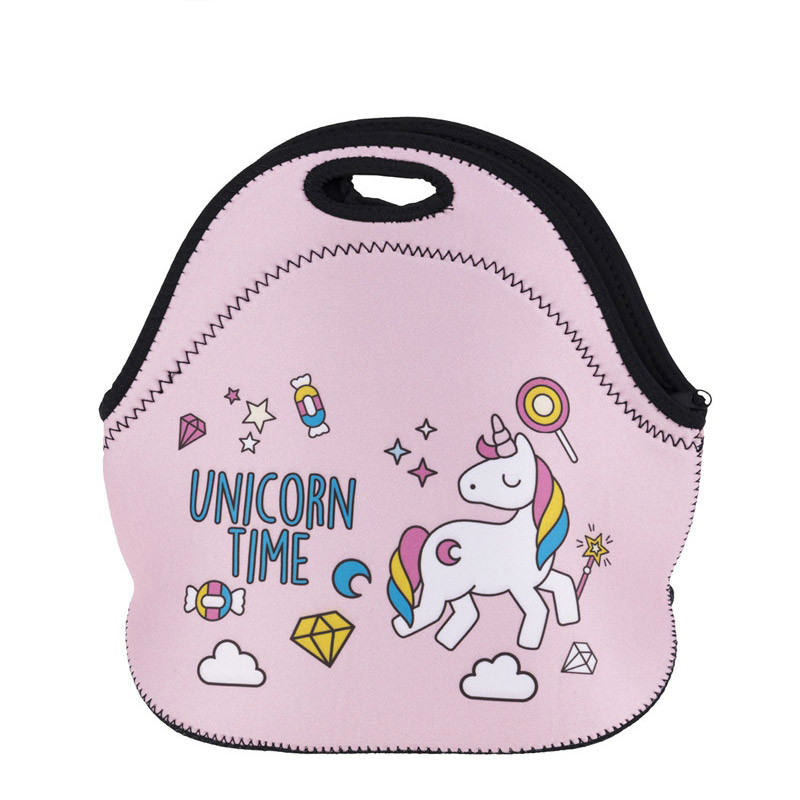 UNICORN TIME Thermal Insulated 3d print Lunch Bags for Women Kids Thermal Bag Lunch Box Food Picnic Bags Tote Handbags